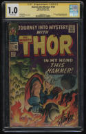 Journey Into Mystery #120 CGC SS 1.0 OW Pg Signature Series Stan Lee Signed