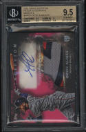 2018 Topps Inception Patch Autograph Magenta Ozzie Albies BGS 9.5 GM 71/75