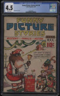 Funny Picture Stories #4 V2 CGC 4.5 OW Pages 1937 Dick Ryan Cover and Art