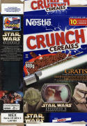Nestle Crunch Star Wars AOTC Empty Cereal Darth Maul Collector Card Mexico 800g