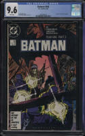 Batman #406 CGC 9.6 W Pages Year One Storyline Frank Miller Mazzucchelli 1987