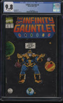 Infinity Gauntlet #4 CGC 9.8 White Pgs Thanos Jim Starlin Lim George Perez 013