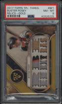 2017 Topps Triple Threads Buster Posey Relics Gold #BP1 PSA 8 NM Jersey 8/9