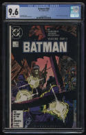 Batman #406 CGC 9.6 White Pgs 1987 Year One Part 3 Frank Miller Mazzucchelli