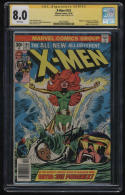 X-Men #101 CGC 8.0 White Pgs Clean Stan Lee Signature Series 1st Phoenix Signed