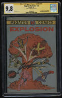 Megaton Explosion CGC 9.8 White Pages SS 1st Youngblood Signed By Rob Liefeld