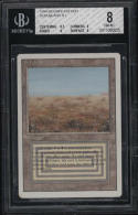 1994 Magic The Gathering Revised Edition Scrubland Land BGS 8 NM-MT