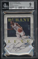 2014-2015 Panini Luxe Kevin Durant Die Cut Autograph BGS 9 Auto 10 Gold 9/10