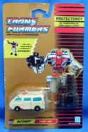 Transformers Generation 1 European First Aid Protectobot MOC Gold Card Defensor