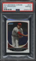 2013 Bowman Chrome J.P. JP Crawford Mini PSA 10 GM #270 Philadelphia Phillies
