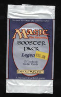 Magic The Gathering Legends MTG Booster Pack Empty Wrapper 004