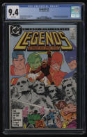 Legends #3 CGC 9.4 White Pages 1st New Suicide Squad Ronald Reagan John Byrne