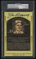 2018 HA Art of Baseball Jim Bunning Autograped HOF Plaque Short Print 9/17